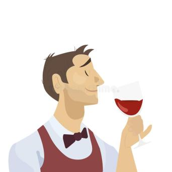 sommelier-considering-glass-red-wine-man-character-flat-design-81428194